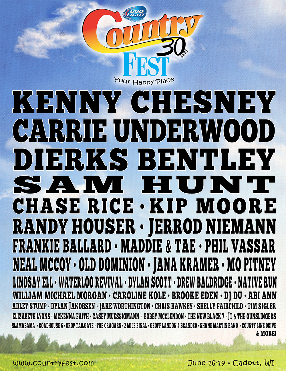 Country Fest 2016 Lineup