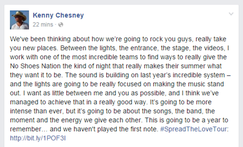 Kenny Chesney Facebook