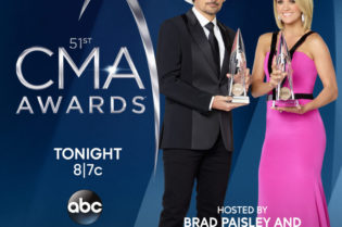 Brad Paisley and Carrie Underwood host the 51st Annual CMA Awards