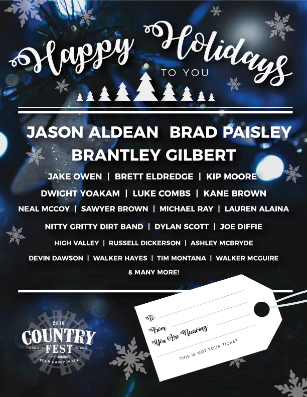 Download the Country Fest Holiday Certificate