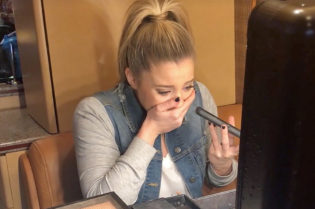 Lauren Alaina gets choked up over news of ACM win.
